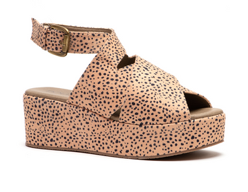 Brown Speckled Corkys Footwear Marseille Platform Wedges