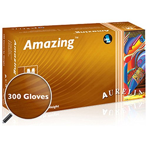 Aurelia Amazing Nitrile Glove, Exam, Powder Free, 2.0 Mil Thick, Violet Color, (Box of 300) - BiochromCorp