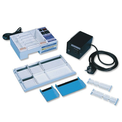 Horizontal Bioer GE100 Mini Gel Electrophoresis System with build-in power supply. - BiochromCorp
