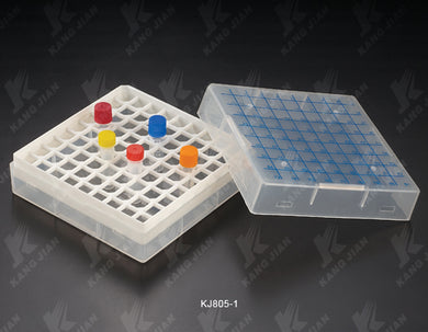 Cryovial Rack with lid, 81 Well (1.8ml), adapted to temperature from -196 to 121°C. PACK OF 5 RACK - BiochromCorp