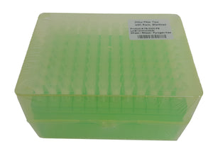 Extragene Universal 200ul Pipette Tips, Racked, Sterile, DNase / RNase & Pyrogen Safe, Clear 96 tips/rack, Pk x 10 racks - BiochromCorp