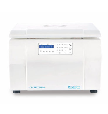 Gyrozen Centrifuge 1580 for Biotech and Tissue Culture Lab . Max 15,000 rpm.  Include: Swing Rotor, Buckets, 15ml & 50 ml conical adapter and Fixed Angle 24 microtube (110V, 50/60Hz) - BiochromCorp
