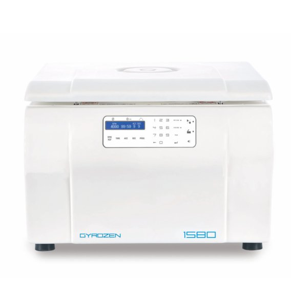 Gyrozen Centrifuge 1580 for Clinical Lab . Max 15,000 rpm.  Include: Swing Rotor, Buckets, 50ml,15 ml, 10ml, 7ml, 1.5/2.0 ml  adapter and Fixed Angle 24 x 15ml and Fixed Angel Rotor 24x1.5/2.0 (110V, 50/60Hz) - BiochromCorp