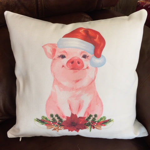 Christmas Pig Pillow