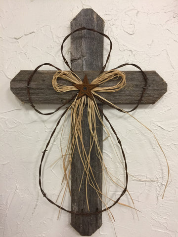 "24"" Rustic Weathered Cross"