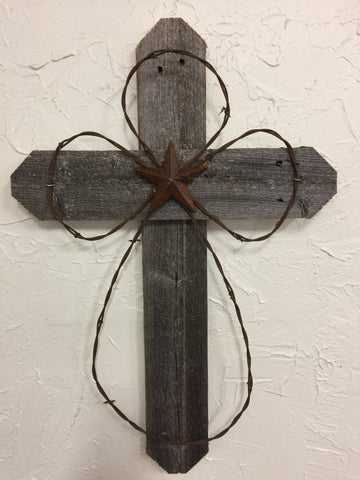 "Rustic 24"" Weathered Cross"