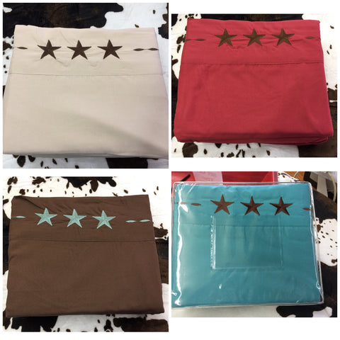 Full Size Texas Star Sheet Set