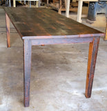 Shaker style table with roughsawn boards