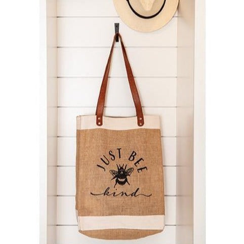 Bee Kind Jute Tote