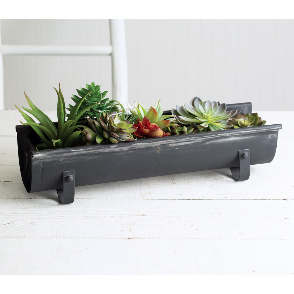 Weathered Chicken Feeder Planter