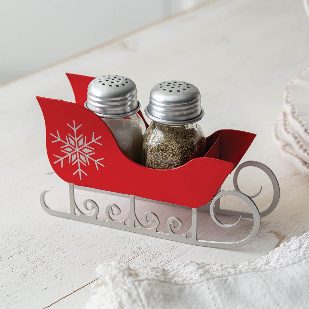 Salt and Pepper Sleigh Caddy