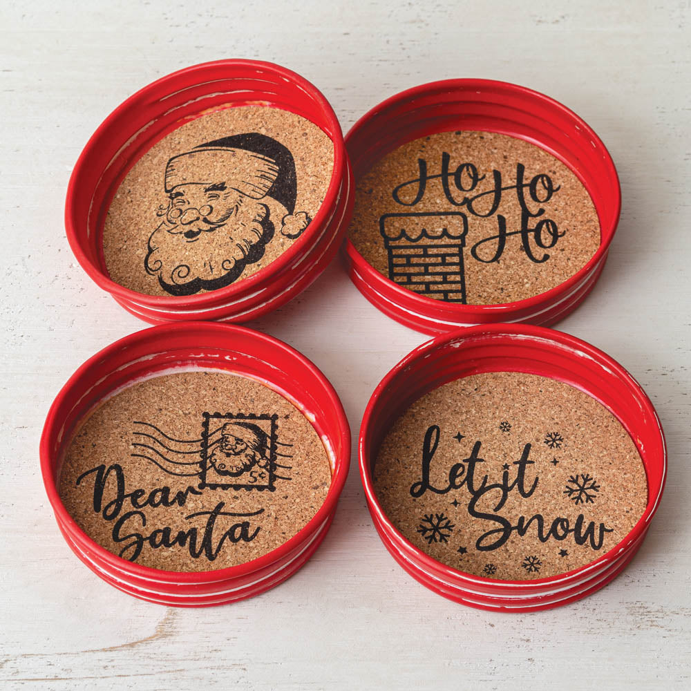 Holiday Coasters - Set of 4