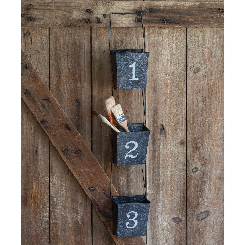 Numbered Wall Organizer - Set of 3