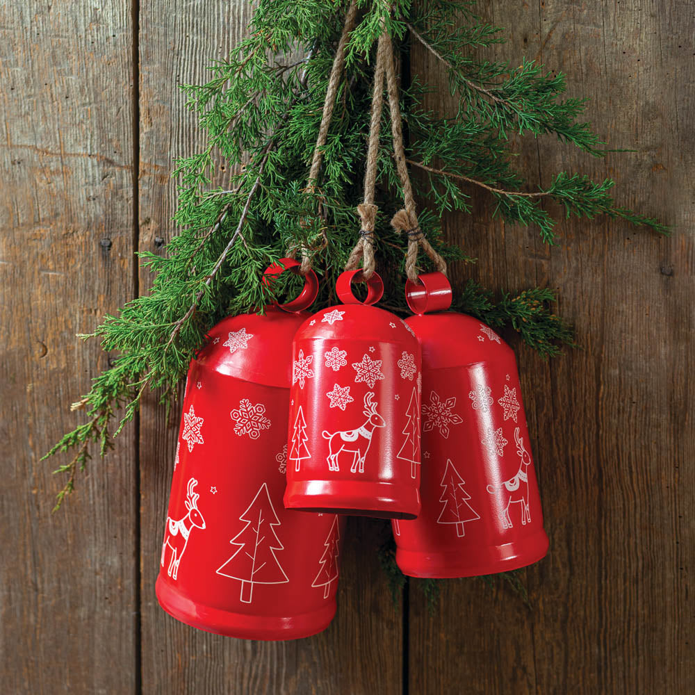 Festive Cylinder Bells - Set of 3