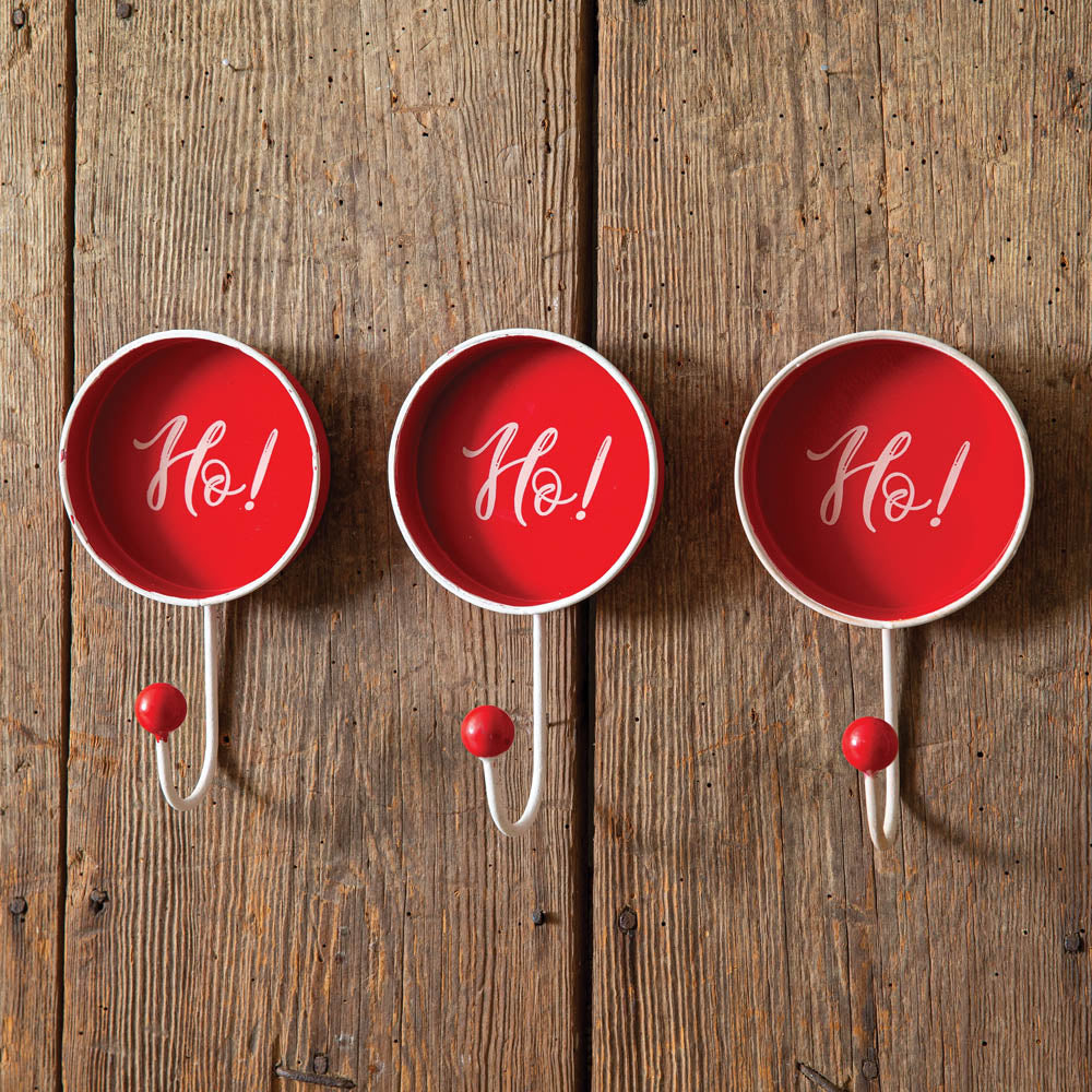 Ho! Ho! Ho! Wall Hooks - Set of 3