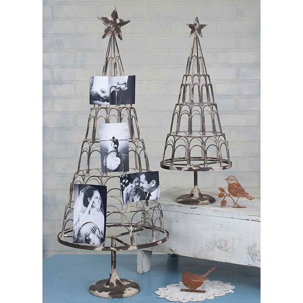Christmas Tree Photo Holder - Set of 2