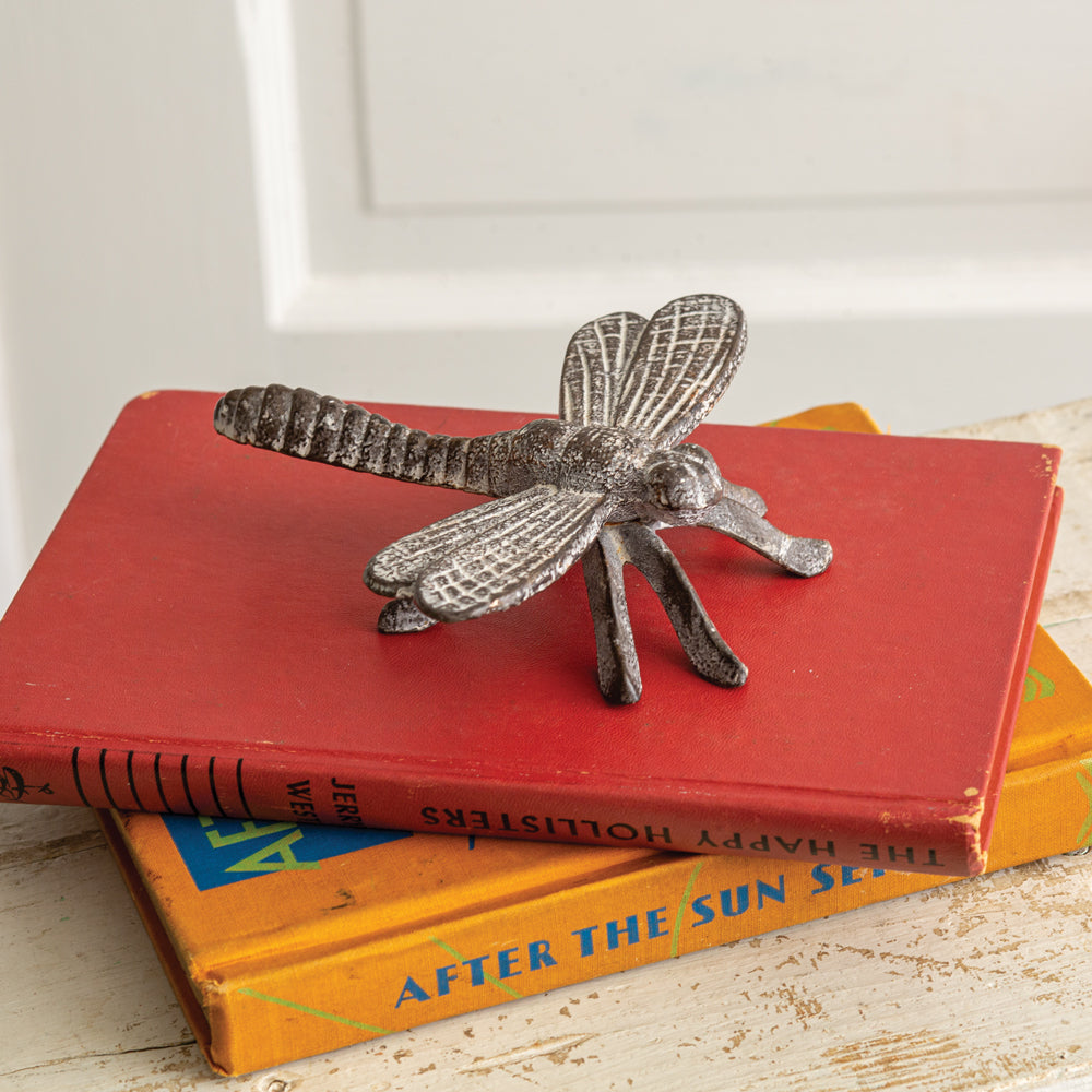 Set of Cast Iron Dragonfly Figurines