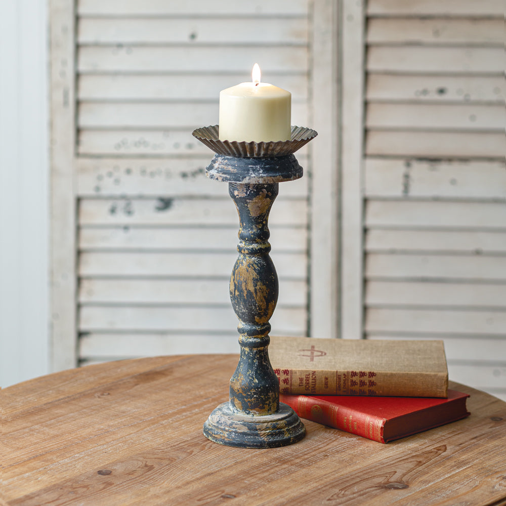 Charming Vintage Inspired Tall Candle Holder