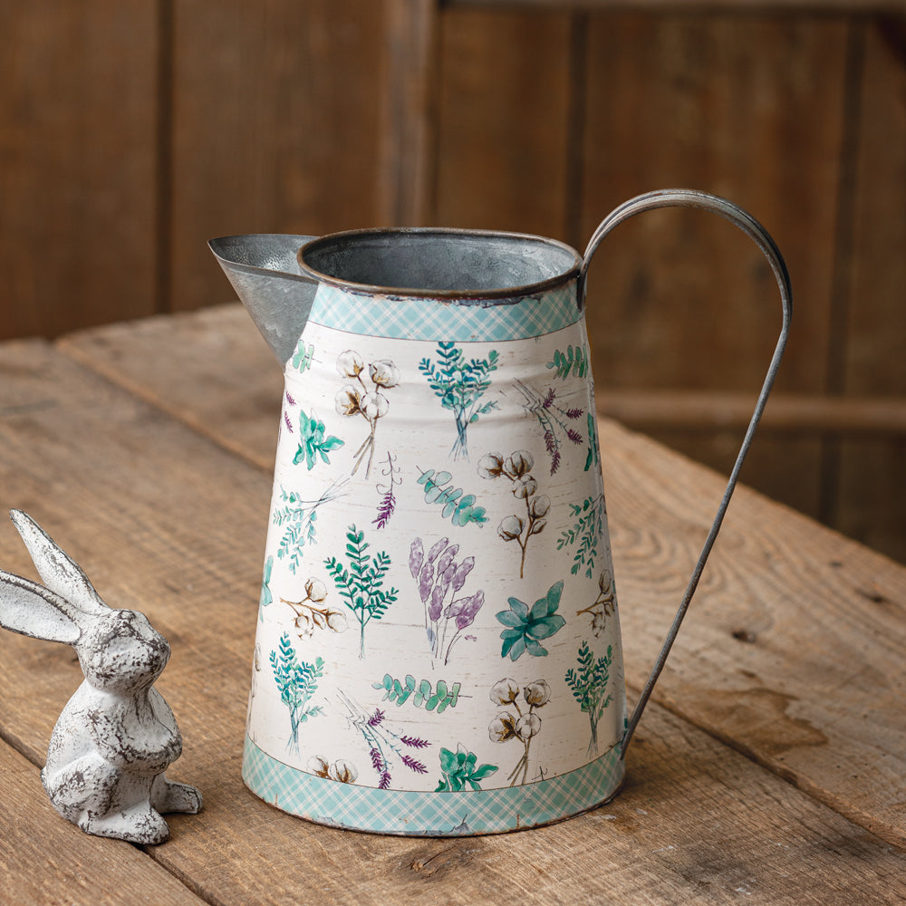Lavender Metal Pitcher