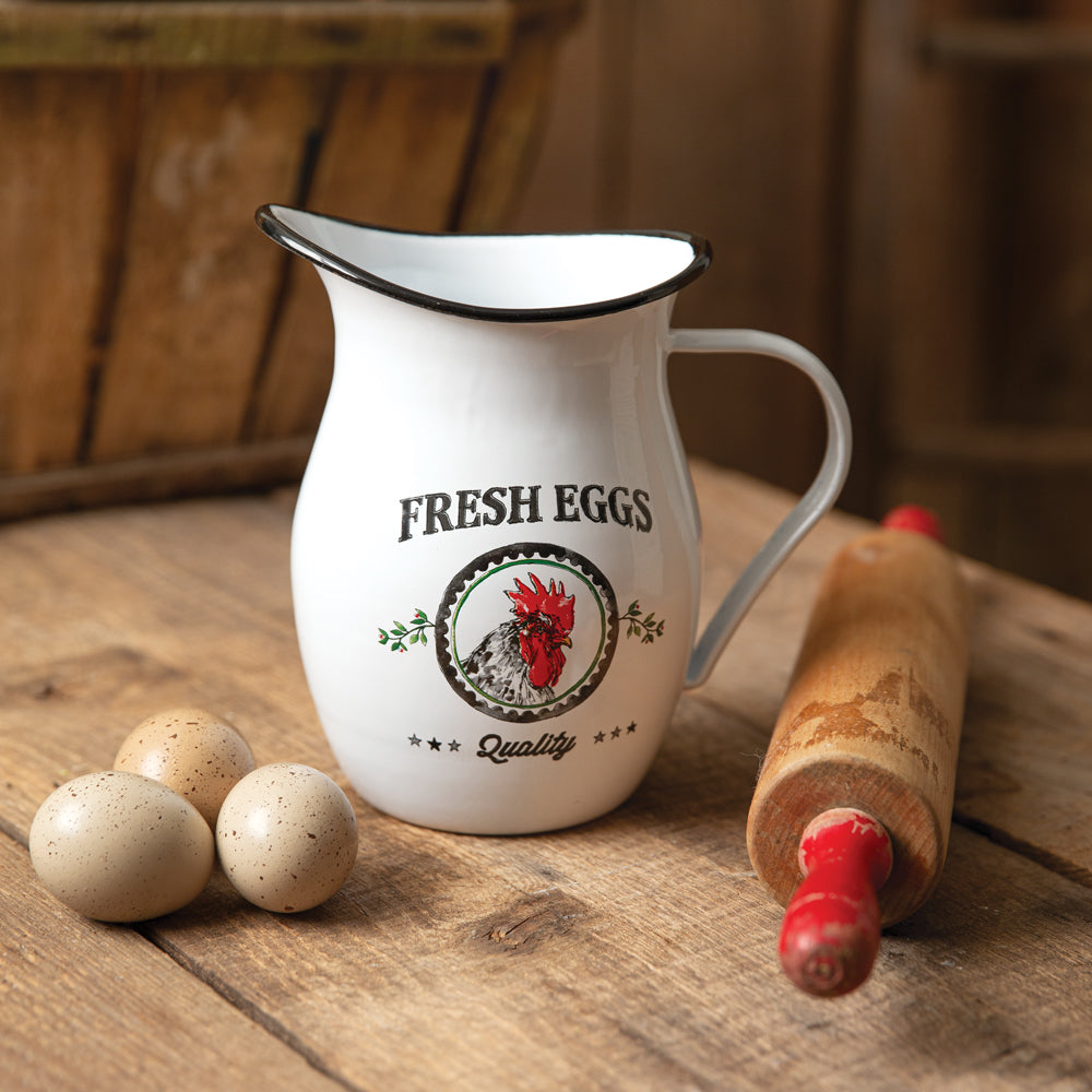 Peck Fresh Eggs Pitcher