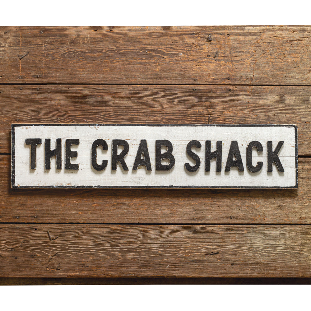 "Farmhouse ""Crab Shack"" Wall Sign"
