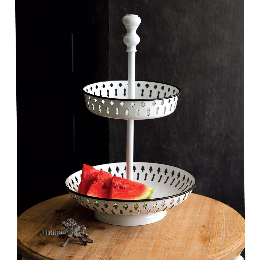 Olympe Two-Tier Perforated Tray