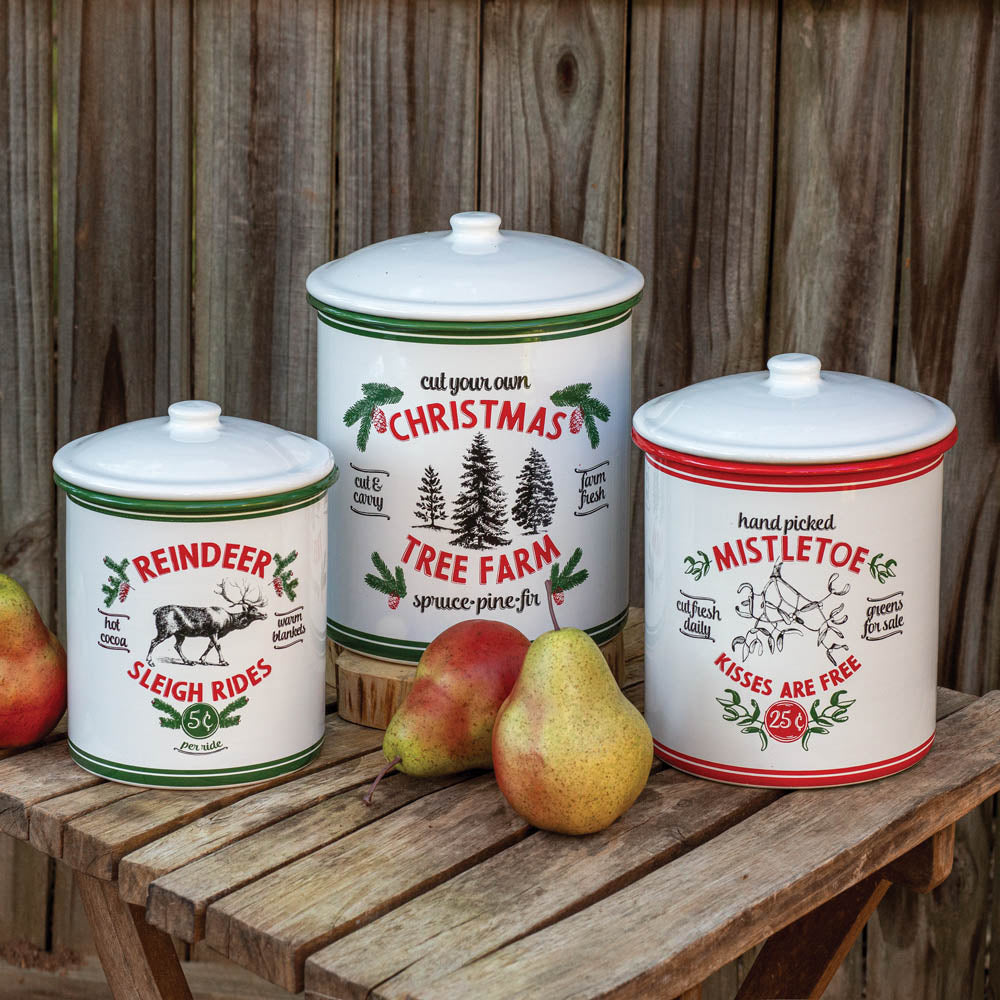 Christmas Farm Containers - Set of 3