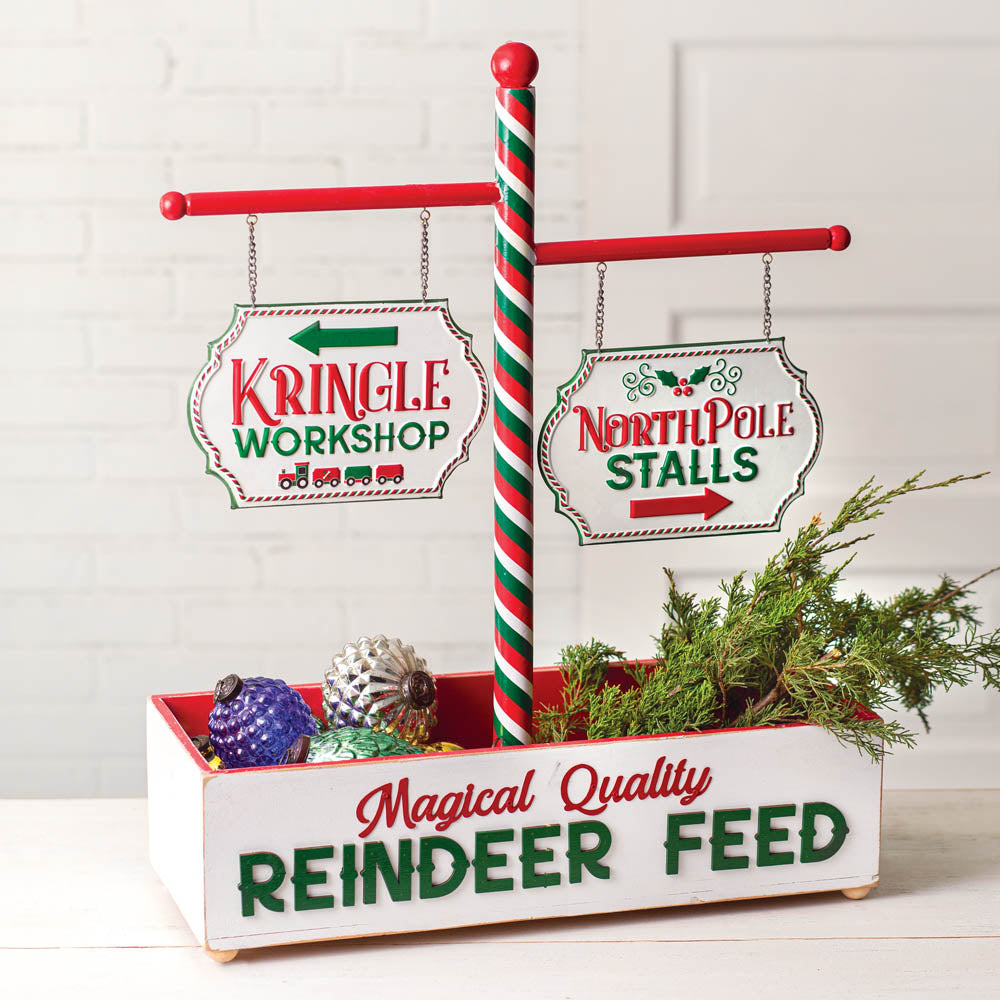 Northpole Reindeer Feed Display
