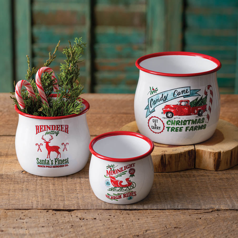 Christmas Farm Bowls - Set of 3
