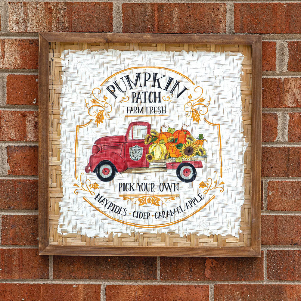 Charming Pumpkin Patch Wall Sign