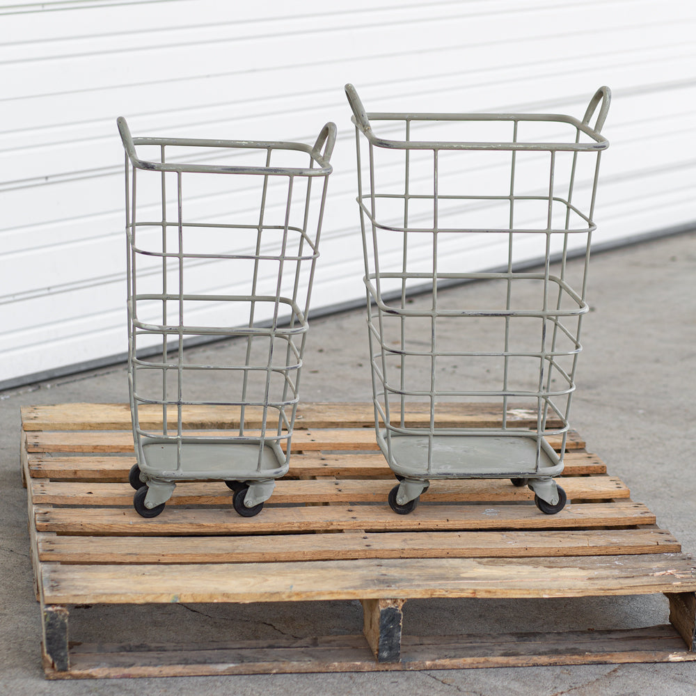 Set of Heavy Duty Rolling Baskets