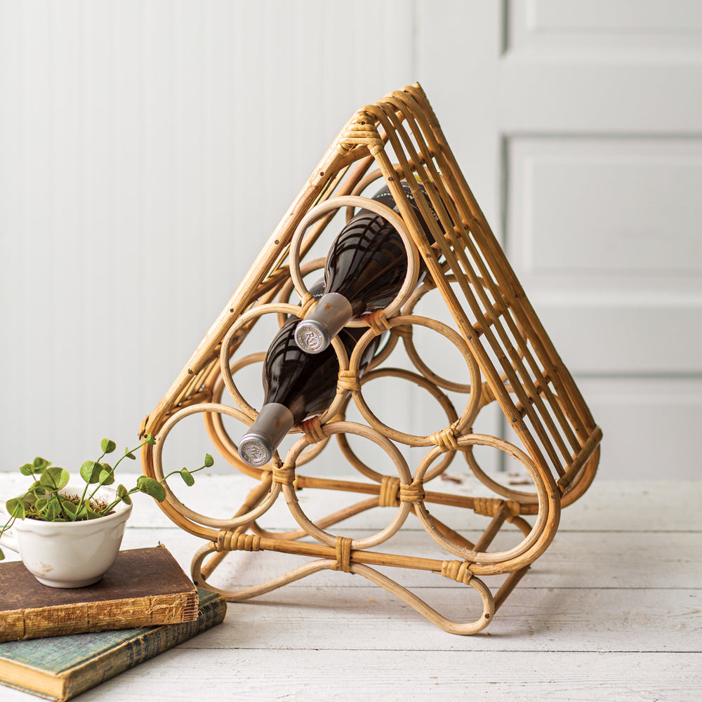 Fjola Rattan Wine Rack