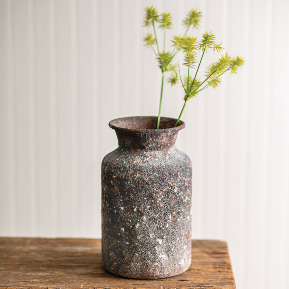Rusty Textured Bouquet Vase