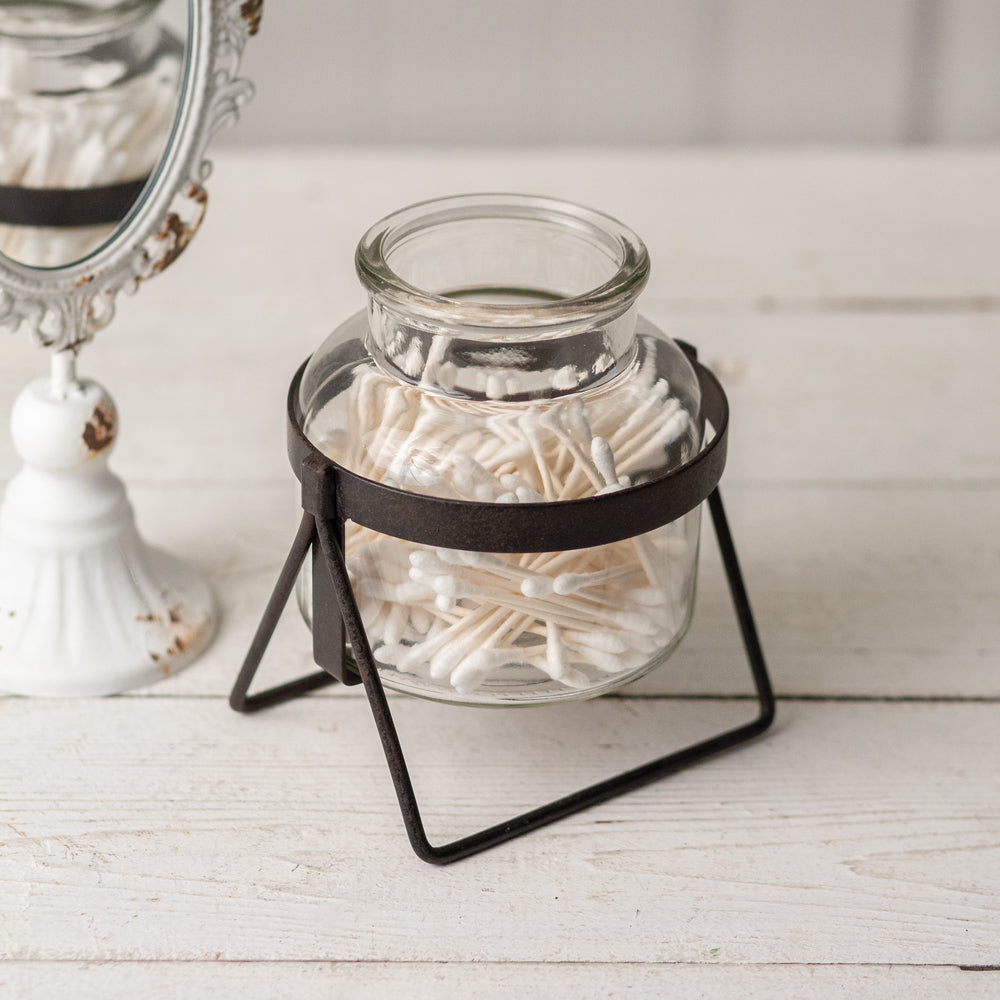 Posie Glass Jar with Stand