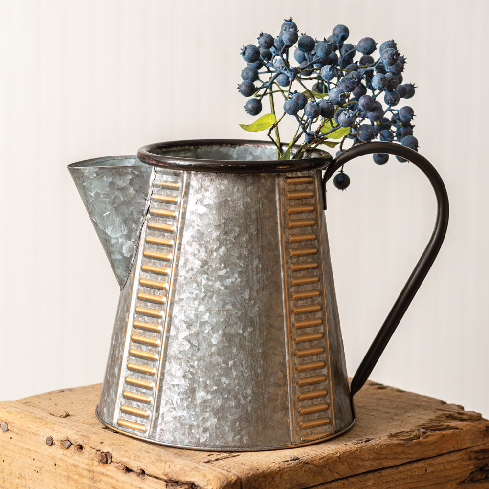 Rustic Galvanized Pitcher