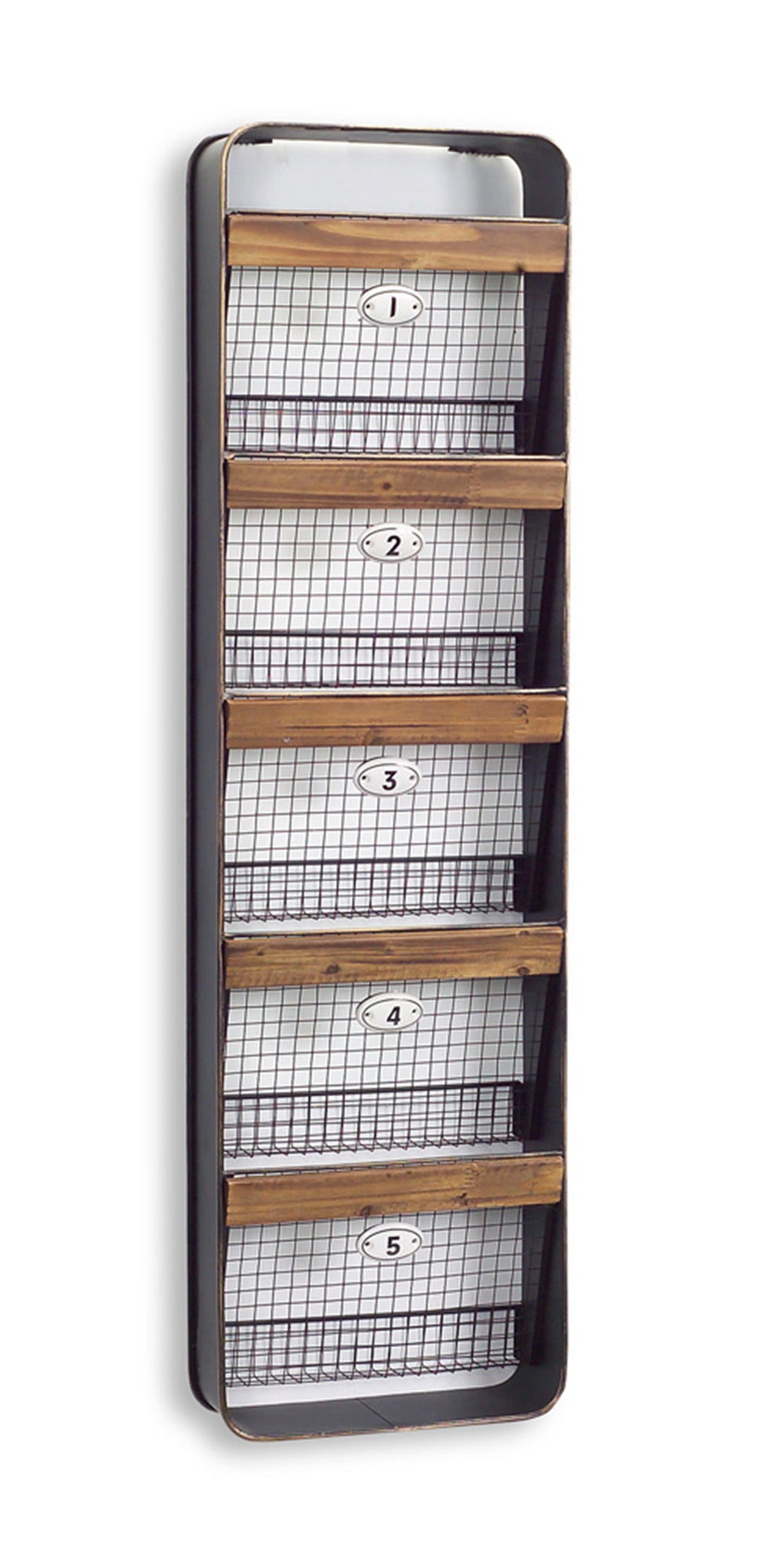 Numbered Basket Wall Hanger
