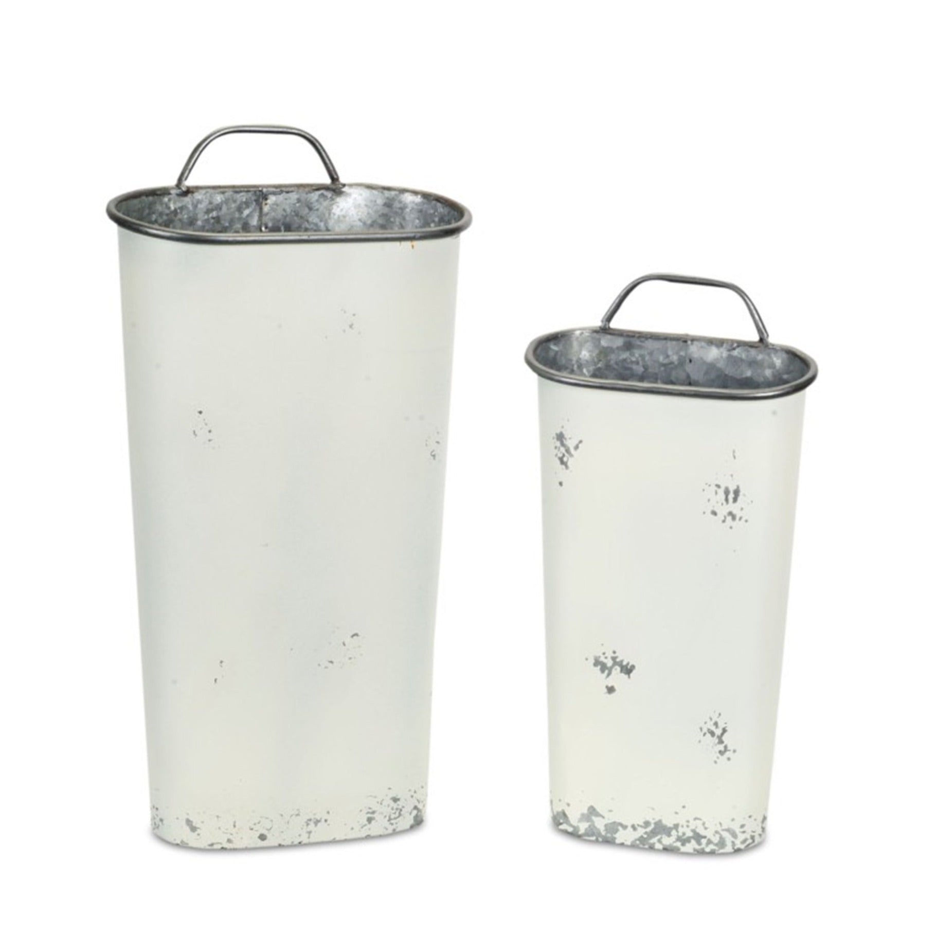 Chippy Metal Wall Bins - Set of 2