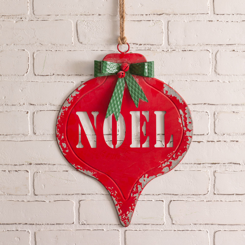 Metal Noel Ornament Wall Sign