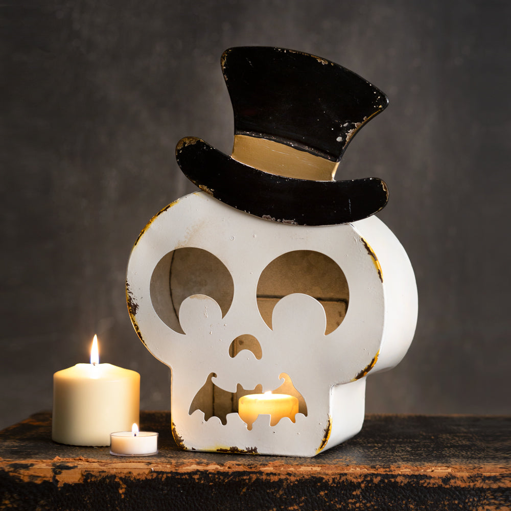 Charming Skeleton Candle Holder