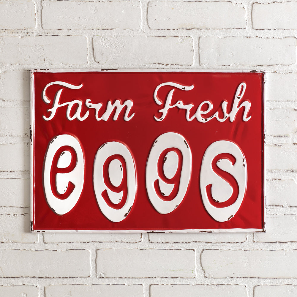Fresh Eggs Wall Sign