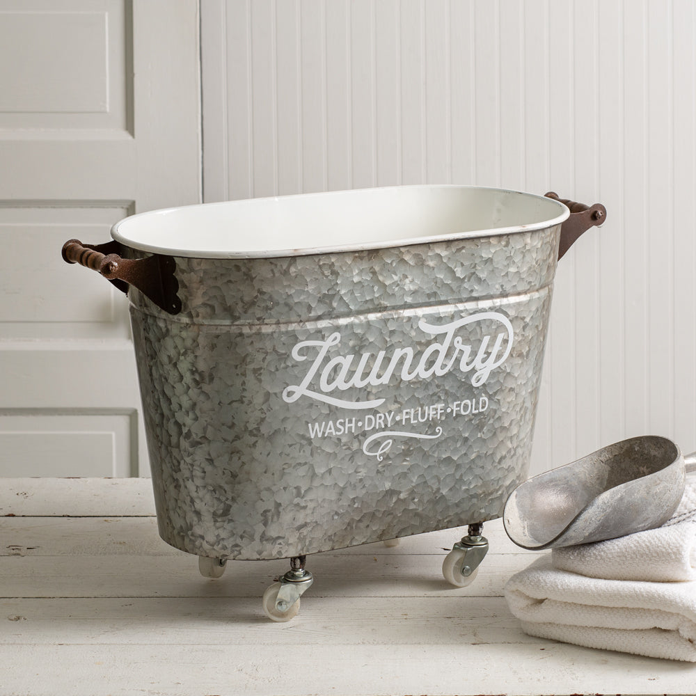 Mobile Oval Laundry Tub