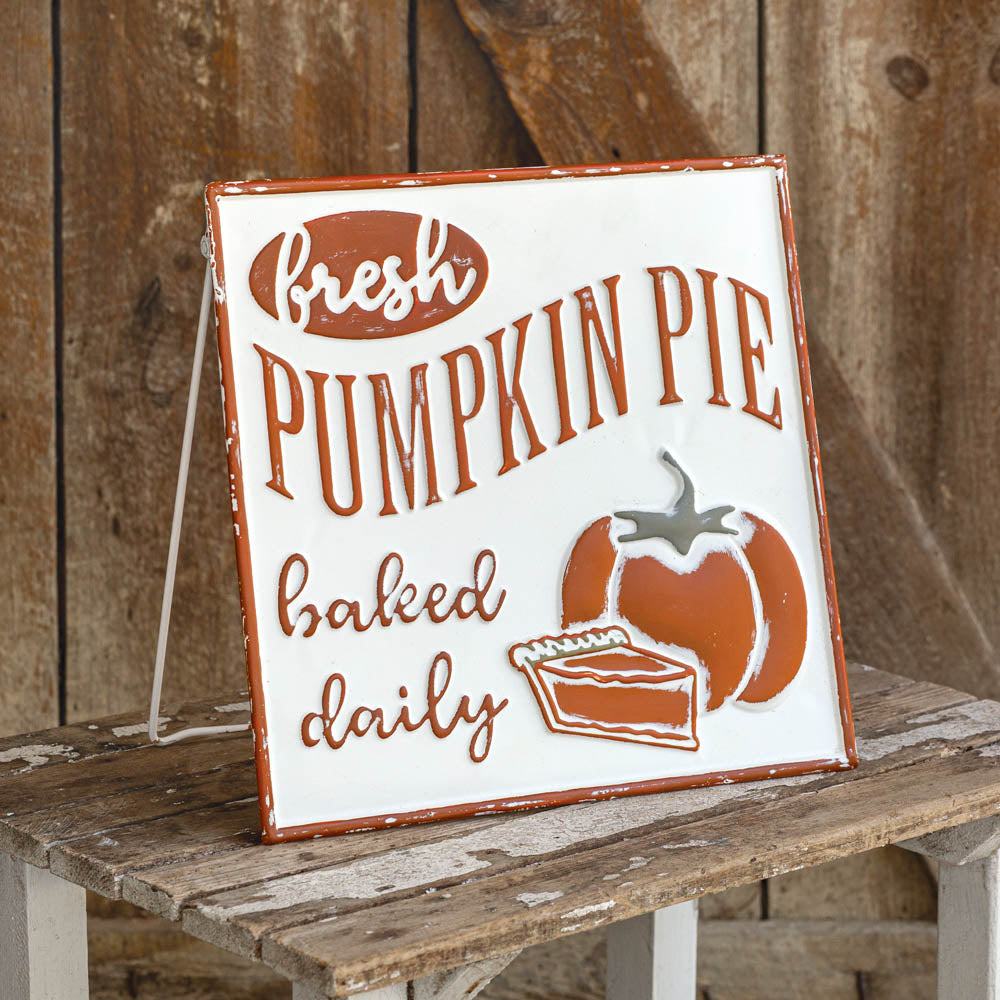 """Pumpkin Pie, Baked Daily"" Sign"