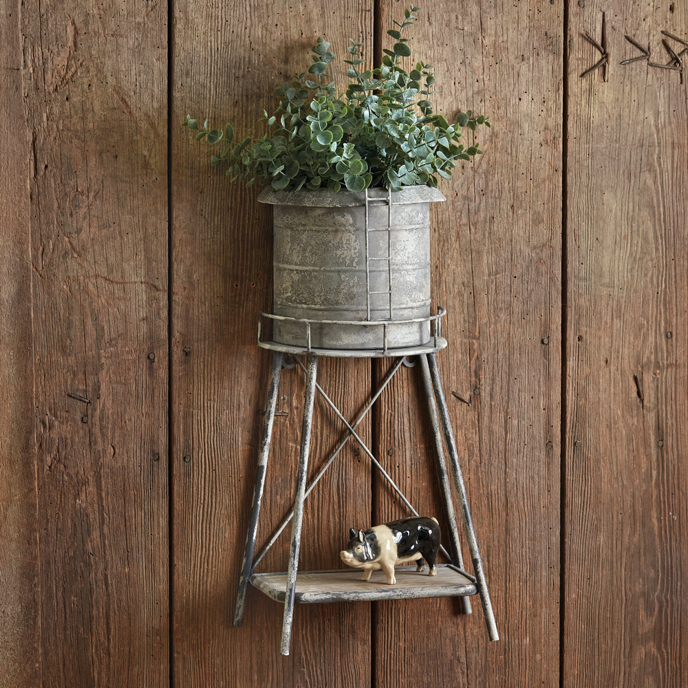 Rustic Silo Wall Planter