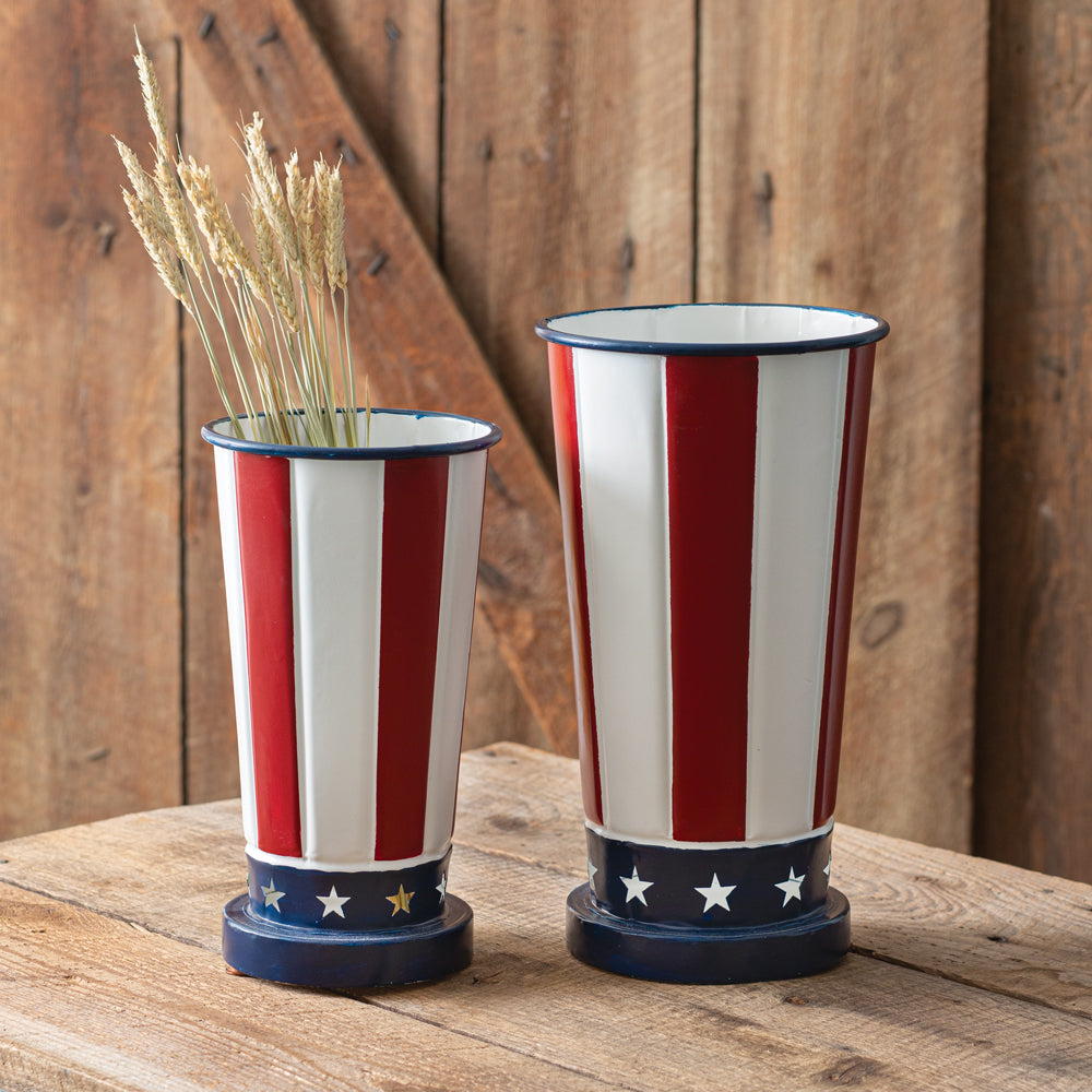 Americana Tall Vases - Set of 2