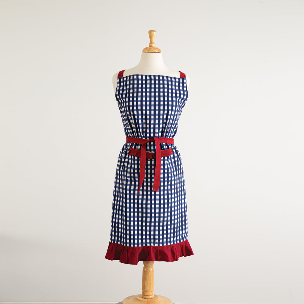 Red, White & Blue Retro Checkered Apron