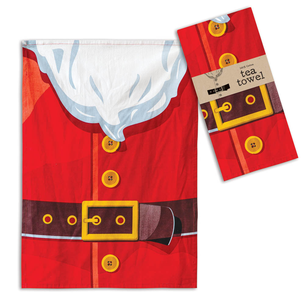 Charming Santa Suit Tea Towel - Set of 4