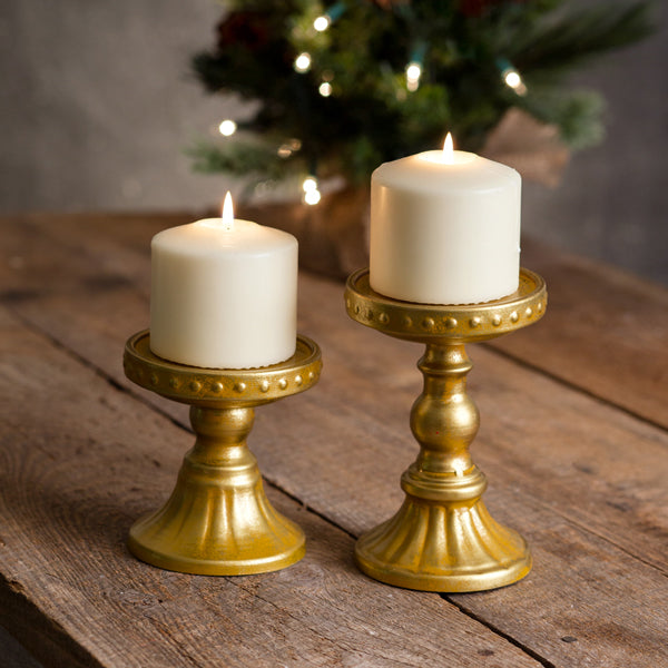 Somerset Pillar Candle Holders - Set of 2