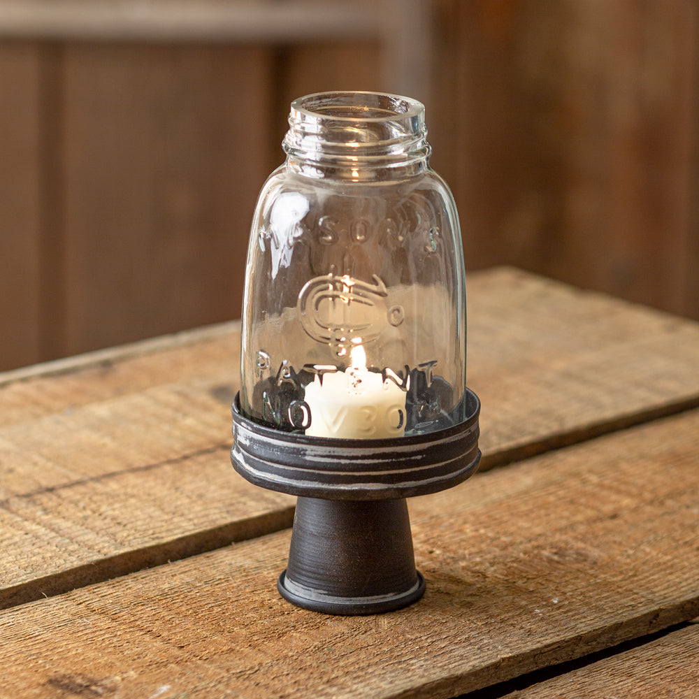 Cadmus Midget Mason Jar Chimney with Stand
