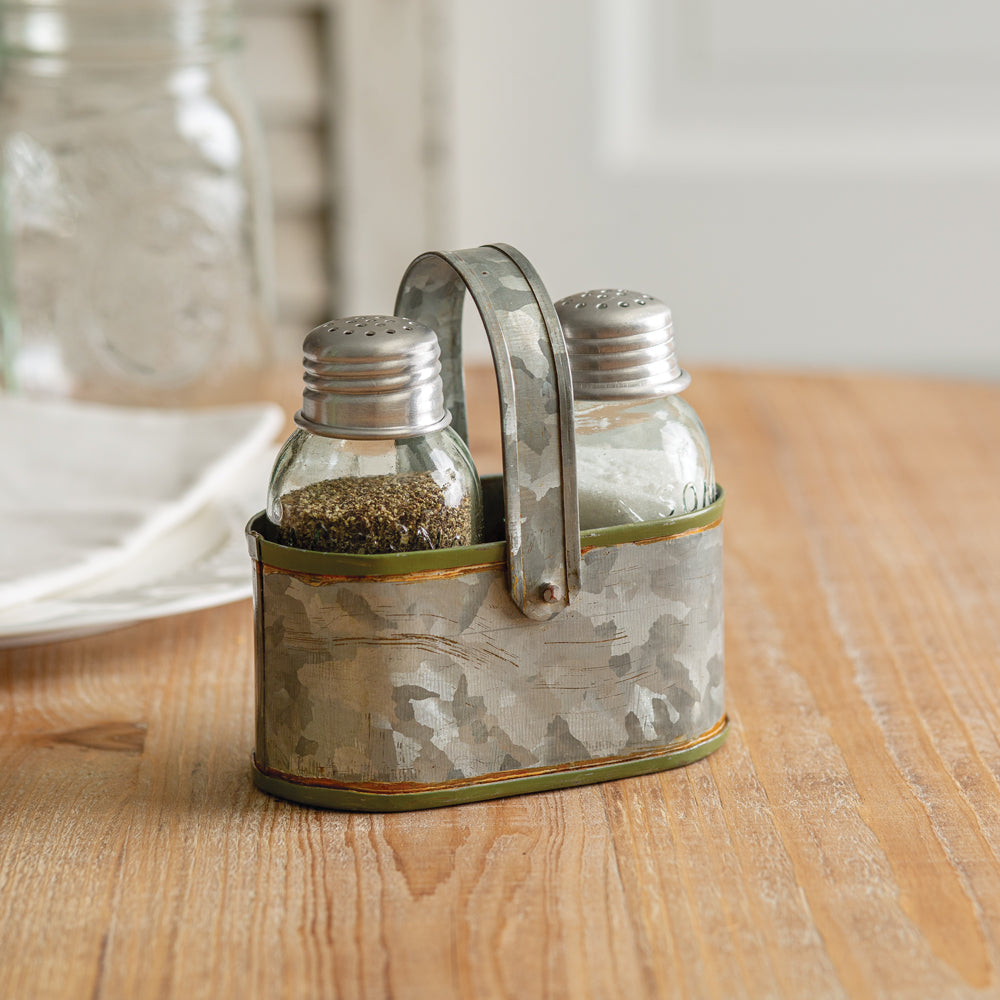 Evia Simple Salt and Pepper Caddy - Box of 2