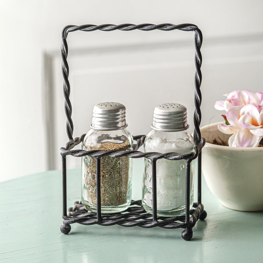 Filia Twisted Wire Caddy with Shakers - Box of 2